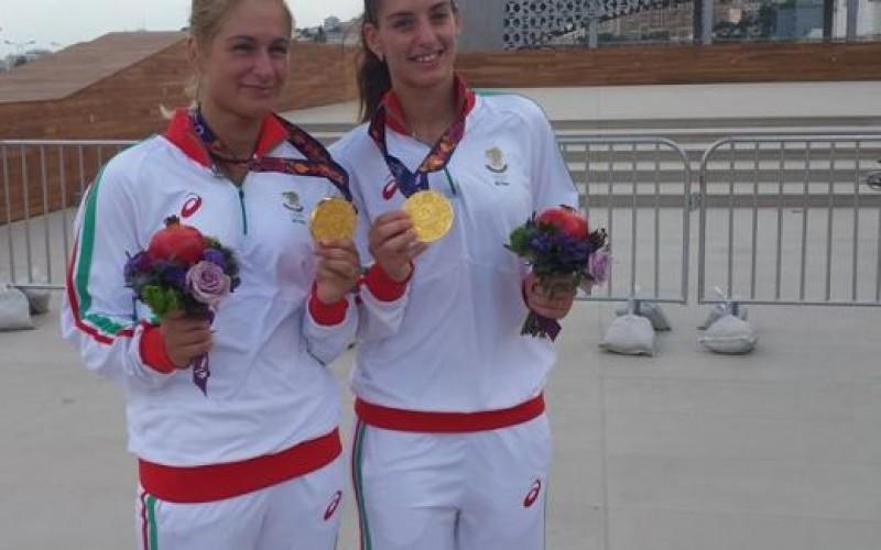 Сестри Стоеви се позлатиха в Баку