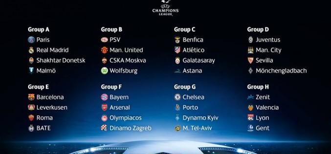 Дирижиран жребий размина грандовете в Шампионската лига