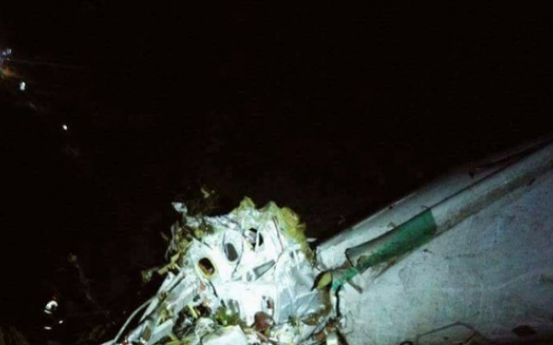 Уникални кадри от мястото на трагедията с бразилския самолет (ВИДЕО)
