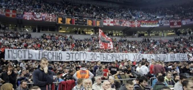 Уникални кадри: Десетки хиляди в Белград пяха в памет на загиналите над Черно море (ВИДЕО)