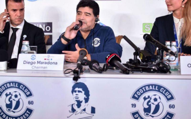 Беларуси представиха Марадона като президент (ВИДЕО)