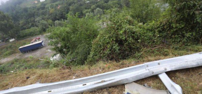 Вижте колко е опасен пътят край Своге (ВИДЕО)