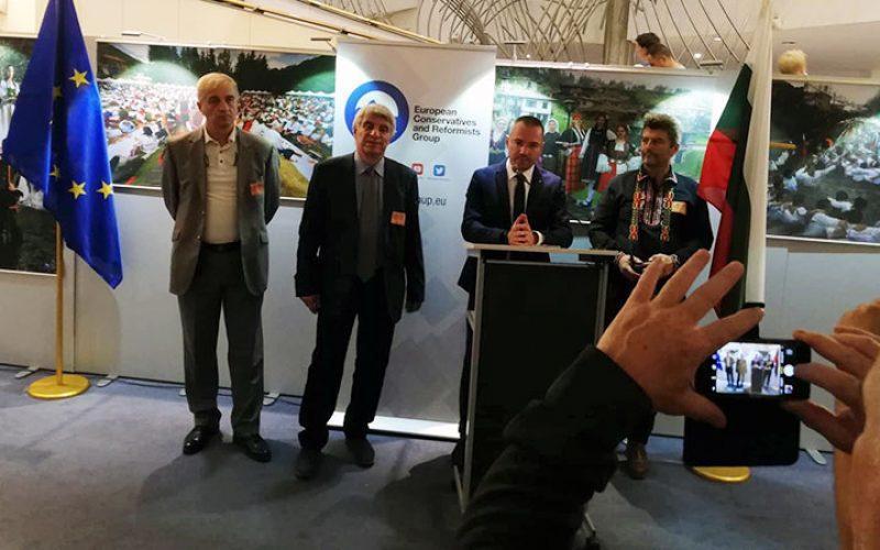 Европарламентът видя фолклорна изложба и книга за великия кан Тервел