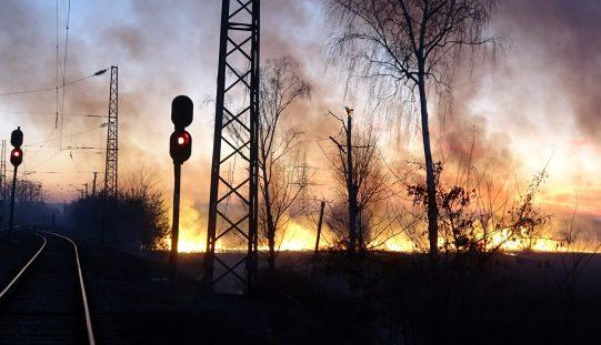 Ексклузивни кадри: Огнена стихия изпепели околностите на село Световрачене (ВИДЕО)