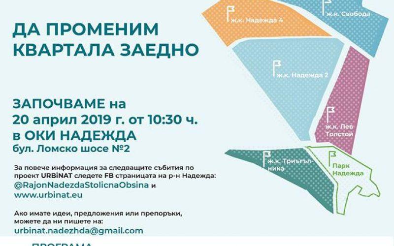 URBiNAT: Първа среща – запознаване на участниците
