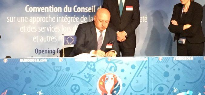 Приехме Конвенцията на Съвета на Европа за интегриран подход към безопасност на футболните мачове