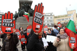 Протест в София срещу СЕТА