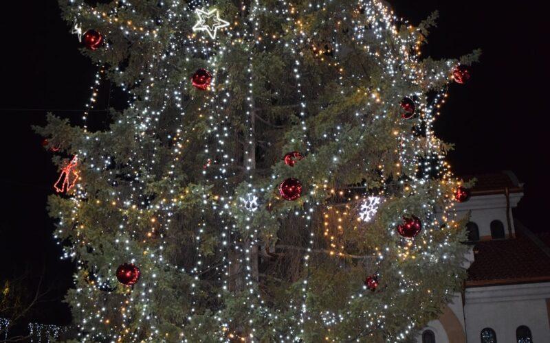 Коледната елха грейна в гр. Елин Пелин (СНИМКИ)