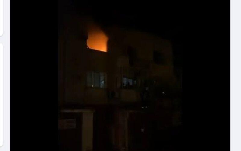 Пожар в Слатина, кметът го снима